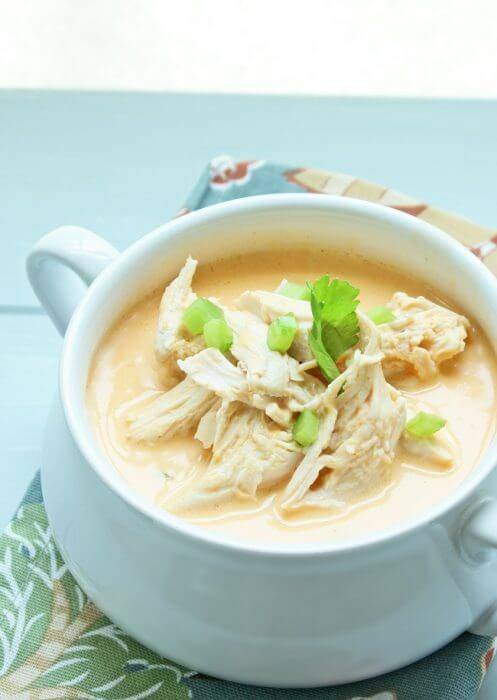 Buffalo Chicken Keto Soup Recipe