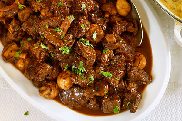 Casserole with Beef and Mushrooms Recipe