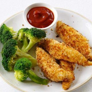 Chicken Fingers with Curried Ketchup Recipe