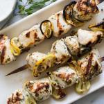 Chicken Kebab with Tzatziki Sauce Recipe