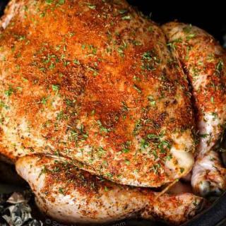 Moist and Succulent Crockpot Roast Chicken