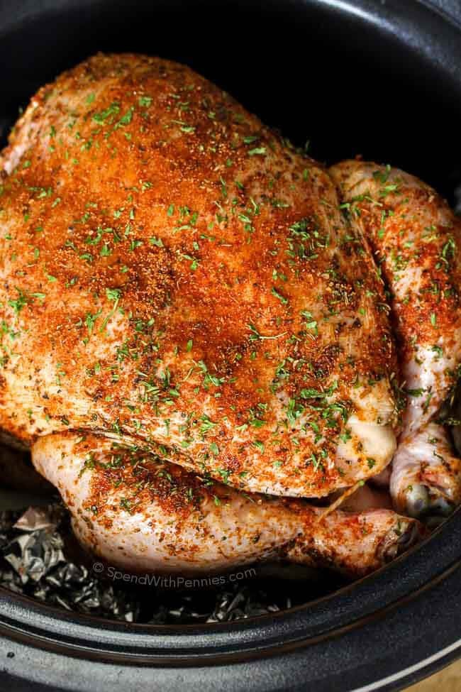 Crockpot Roast Chicken