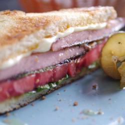 Fried Bologna Sandwich, Panini Style