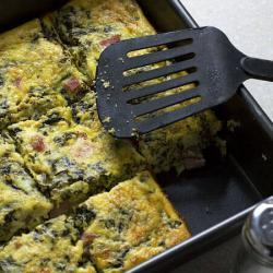 Keto Casserole With Ham, Ricotta And Spinach