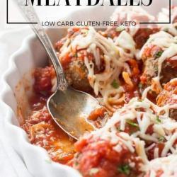 Keto Meatballs baked in Italian Recipe