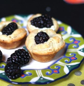 Lemon Blackberry Goat Cheese Tartlets Recipe