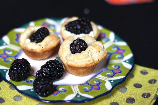 Lemon Blackberry Goat Cheese Tartlets Recipe