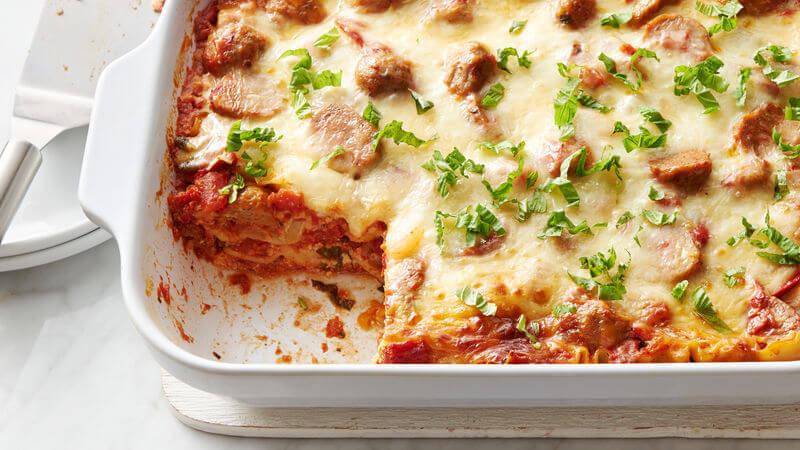 Meatball Lasagne Recipe