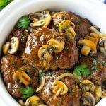 Slow Cooker Flank Steak in Mushroom Sauce