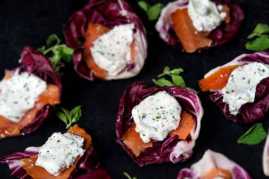 Smoked Salmon Canapes with Goat Cheese