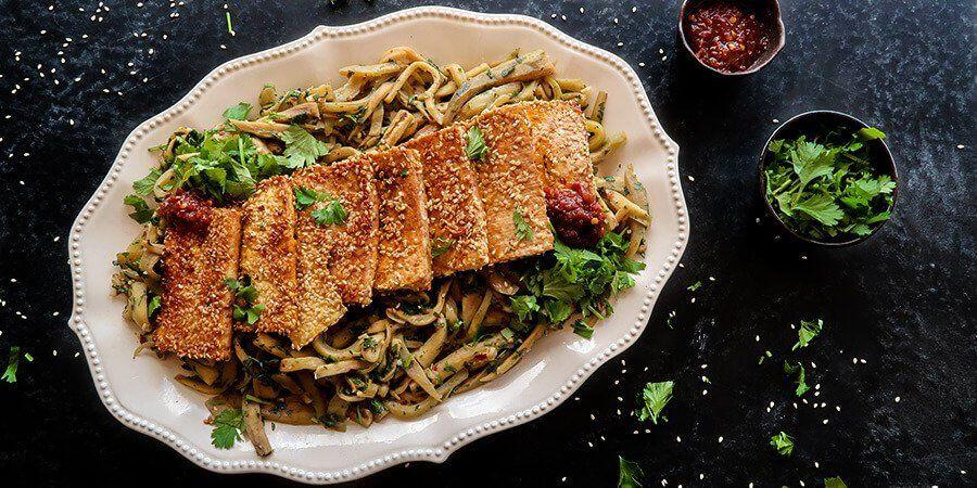 Tofu With Sesame And Eggplant Recipe