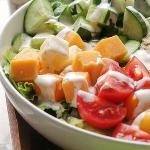 Vegetarian Keto Club Salad Recipe
