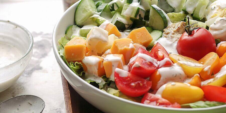 Vegetarian Keto Club Salad Recipe