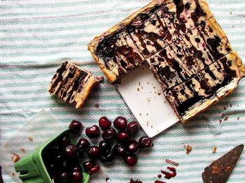 Cherry Balsamic Cheesecake Bars Recipe 3