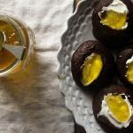 Chocolate Cookie Thumbprints with Sweet Pepper Jelly
