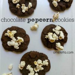 Chocolate Popcorn Cookies  Recipe