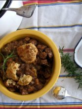 Hearty Beef Stew With Cheddar Biscuits