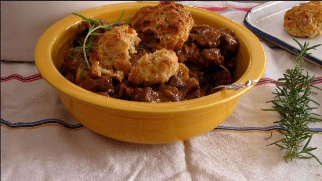 Hearty Beef Stew With Cheddar Biscuits 6