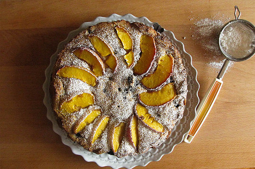 Peach and Blueberry Polenta Recipe