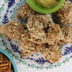Pretzel Crusted Chicken Bites Recipe