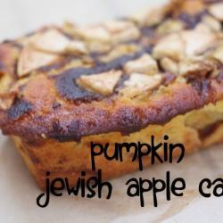 Pumpkin Jewish Apple Cake Recipe