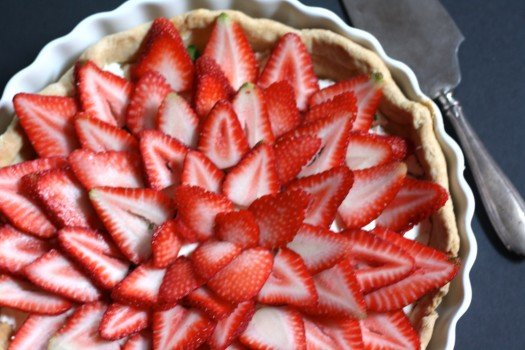 Stawberry Basil Goat Cheese Tart Recipe