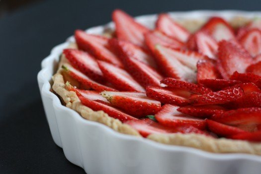 Stawberry Basil Goat Cheese Tart