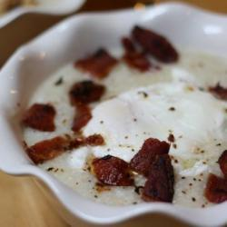 Truffled Grits with Poached Eggs Recipe