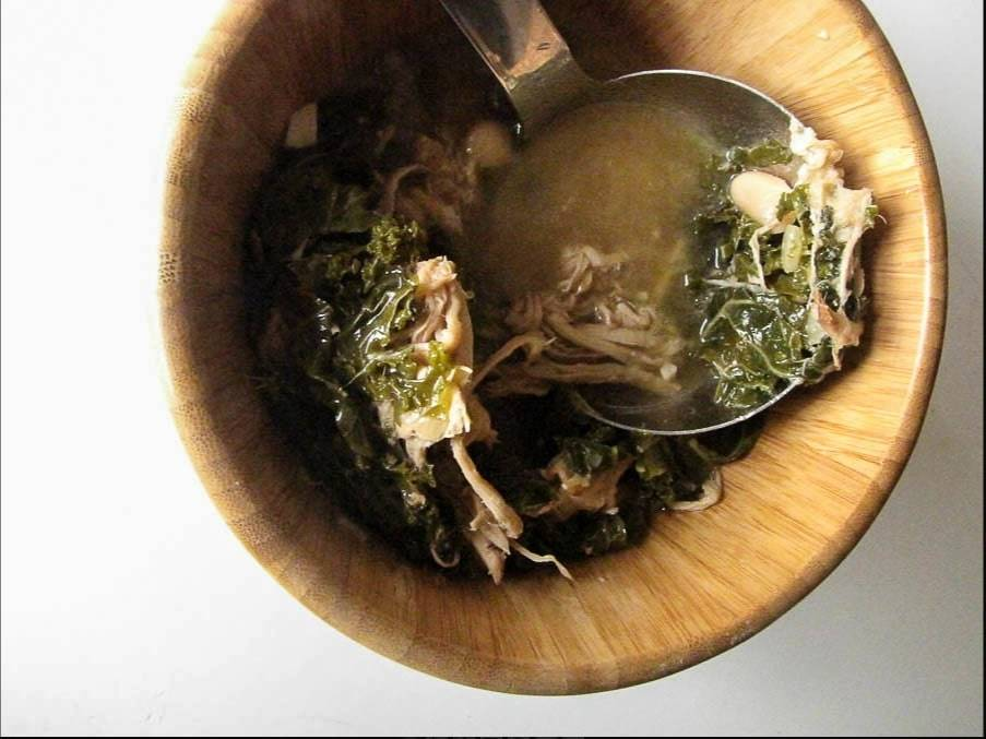 Shredded Pork, Kale and White Bean Stew