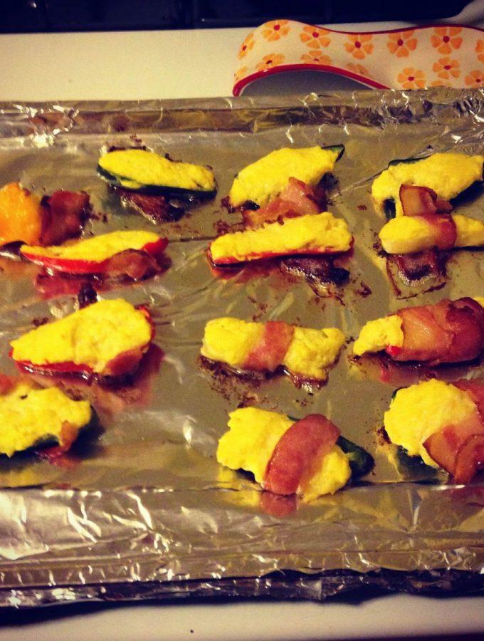 Bacon Wrapped Pumpkin Jalapeno Popper recipe