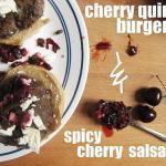 Cheery Quinoa Burgers With Spicy Cherry Salsa Recipe