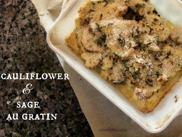Cauliflower and Sage - au Gratin