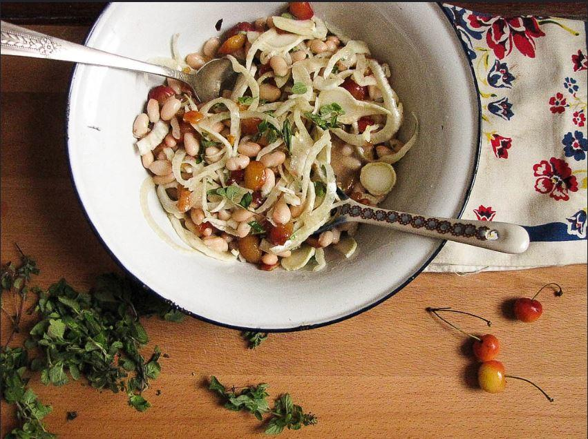 Cherry, Fennel and White Bean Salad Recipe 1