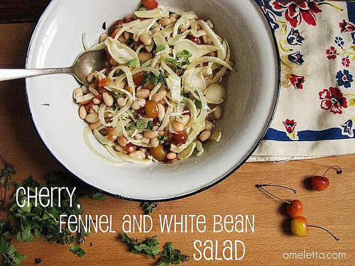 Rainier Cherry, Fennel and White Bean Salad