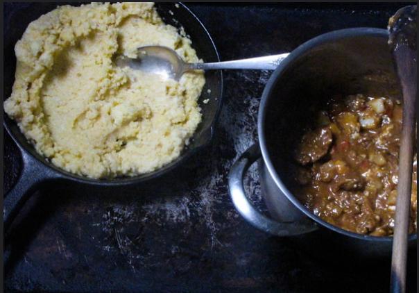 Chorizo Stew and Creamy Grits Recipe 1