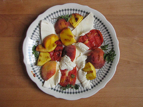 Grilled Peach, Heirloom Tomato and Fresh Mozzarella Salad 3