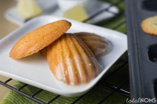 Lavender Madeleines with Lemon Glaze