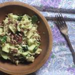 Pasta with Avocado, Zucchini and Walnuts Recipe