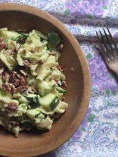 Pasta with Avocado, Zucchini and Walnuts Recipe