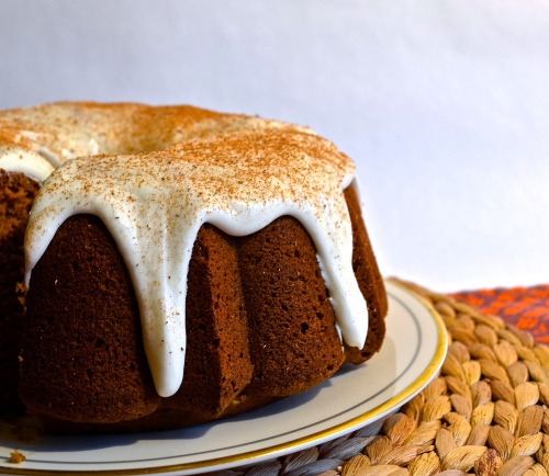 Pumpkin Bundt Cake with Cream Cheese Frosting 1
