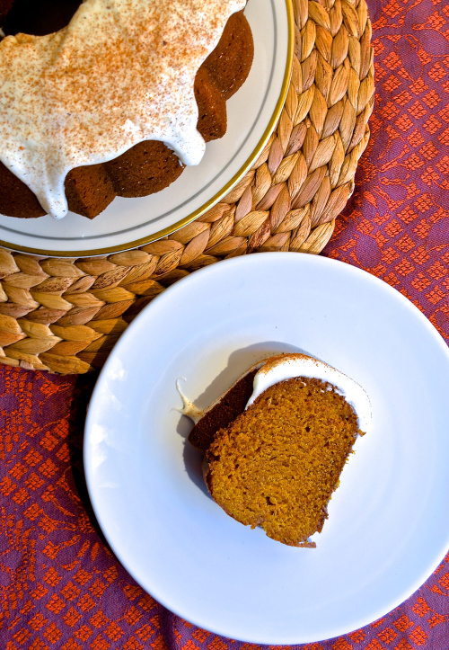 Pumpkin Bundt Cake with Cream Cheese Frosting 3