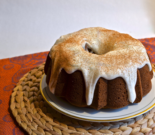 Pumpkin Bundt Cake with Cream Cheese Frosting 4