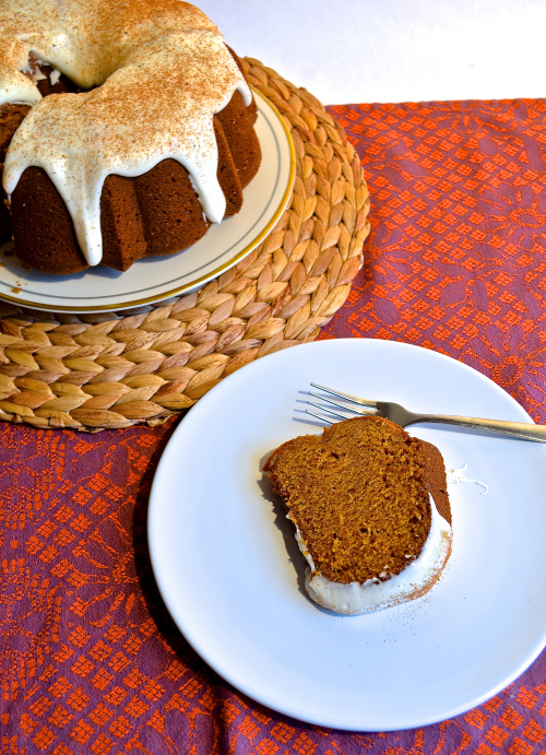Pumpkin Bundt Cake with Cream Cheese Frosting 5