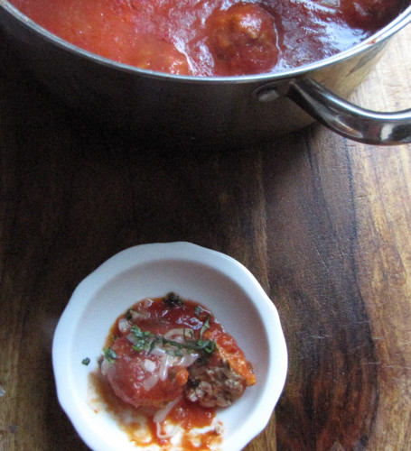 Red Sauce and Meatballs Recipe