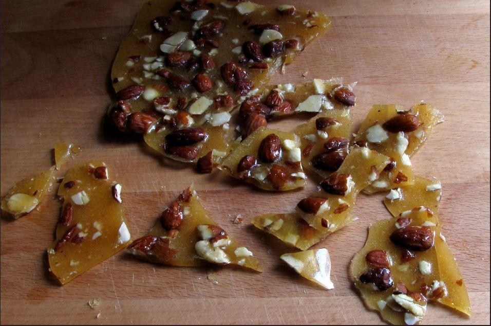 Salted Almond Honey Brittle Recipe