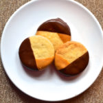Shortbread Dipped in Chocolate and Peanut Butter