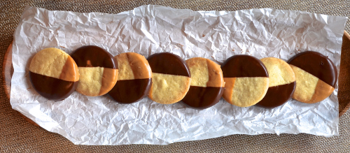 Shortbread Dipped in Chocolate and Peanut Butter 2