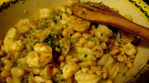 "Shrimp ""cassoulet"" Recipe 1"