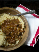 Chorizo Stew and Creamy Grits Recipe