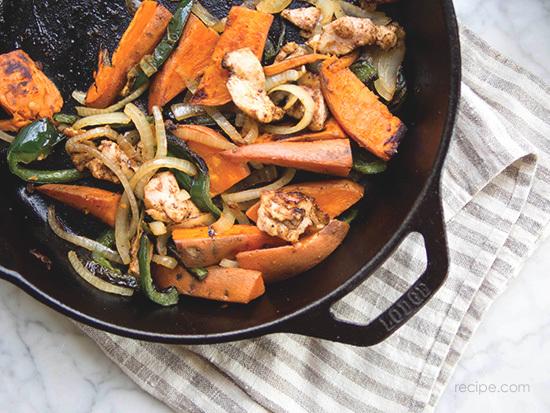 Sweet Potato And Spiced Chicken Fajitas Recipe 4
